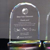 【20%OFF】オリジナルガラス製楯