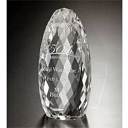 画像1: 【20%OFF】オリジナルガラス製トロフィー